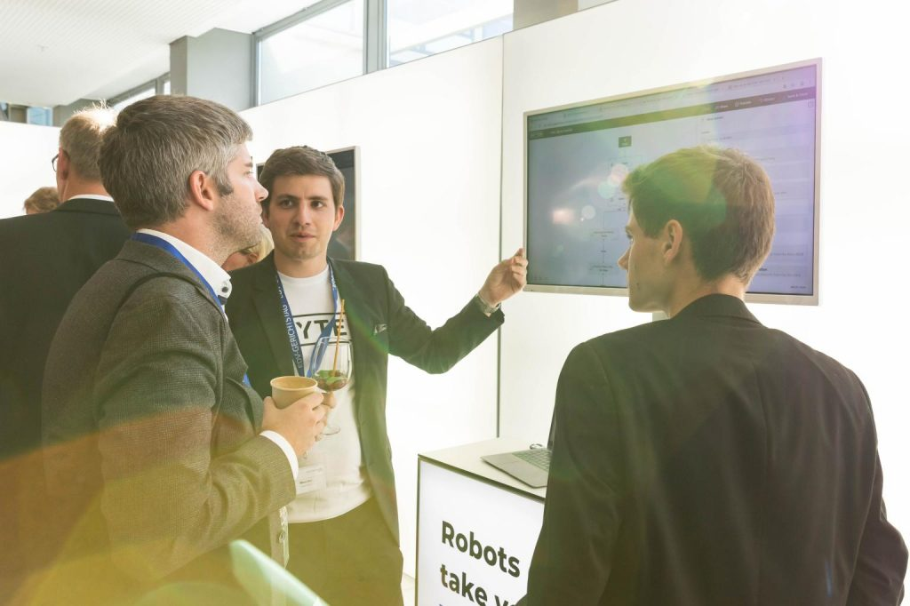 The BRYTER team demonstrating our no-code automation platform at the 2019 EDV-Gerichtstag in Saarbrücken