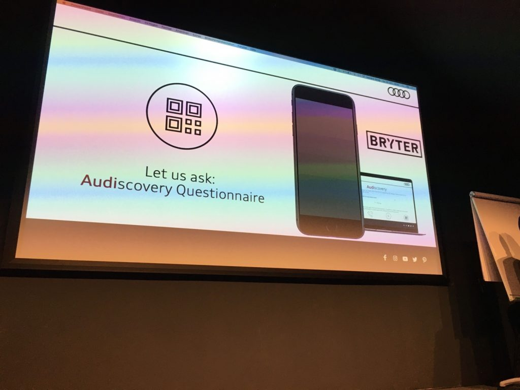 Image of Audiscovery Questionnaire created at the Freshfields Legal Hackathon using the BRYTER platform