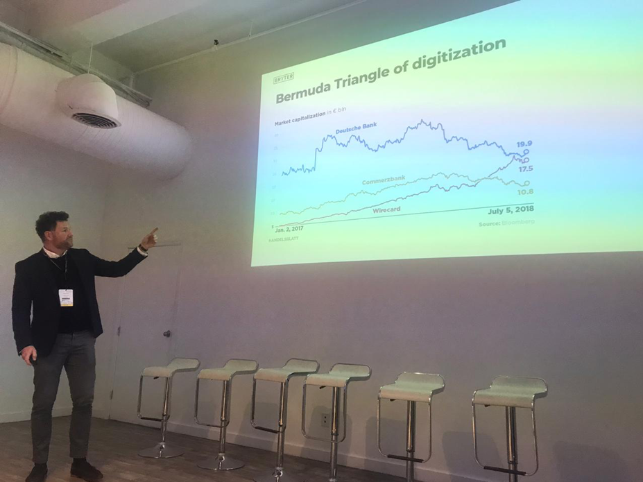 Michael Grupp speaking at BRYTER Legal Tech Hackathon in NYC