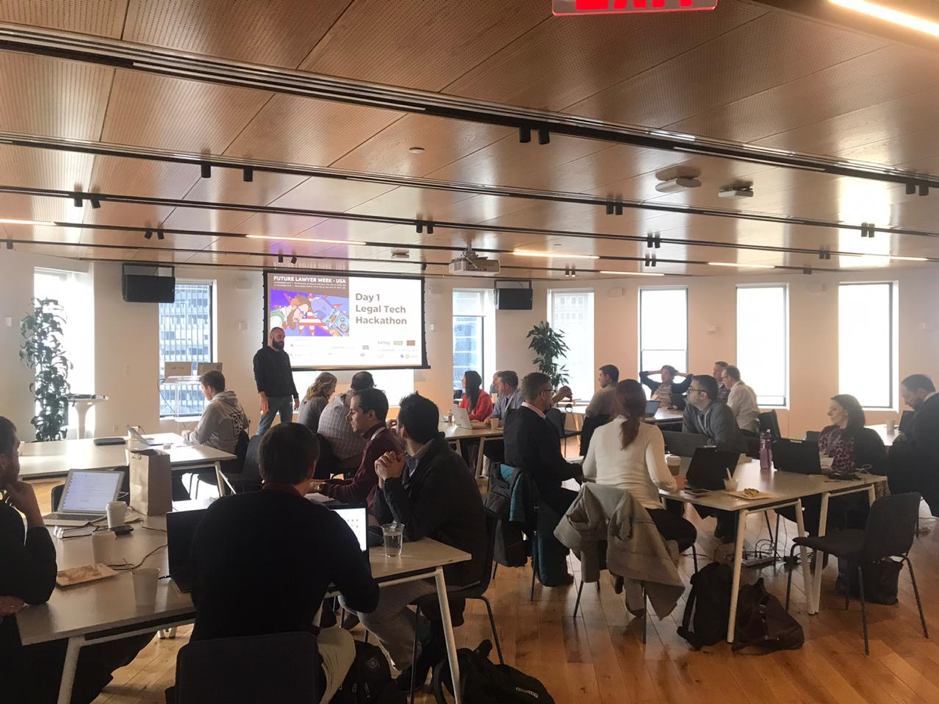 Day 1 - Legal Tech Hackathon in NYC