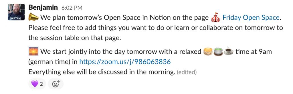 Using Slack at a Virtual Onsite